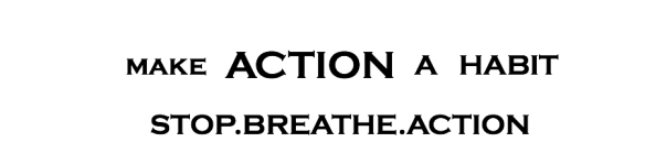 Make Action A Habit by Seth D Cohen for Stop.Breathe.Action