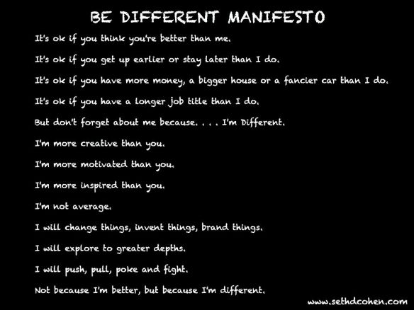 Be Different Manifesto